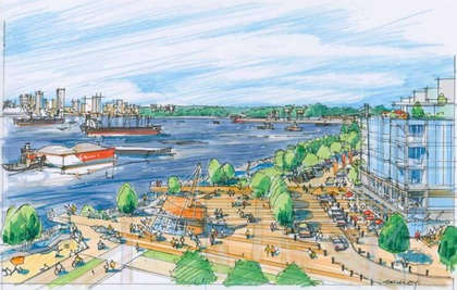 harbourside-waterfront-public-spaces at Drift - North Harbour ( Harbourside Drive, Hamilton, North Vancouver)