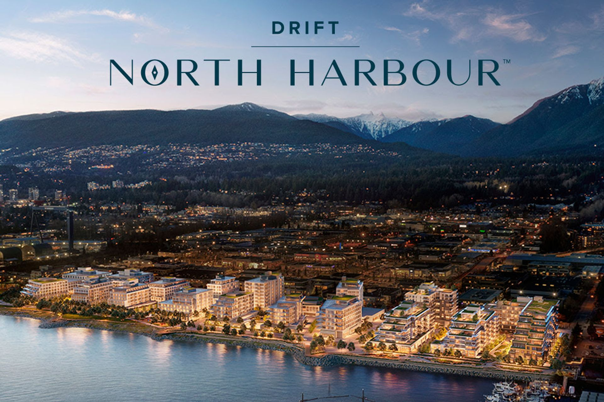 drift-aerial at Drift - North Harbour ( Harbourside Drive, Hamilton, North Vancouver)