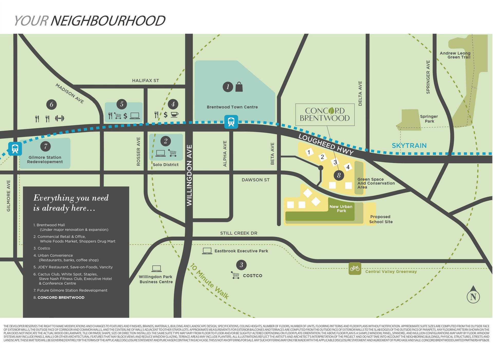 Concord Brentwood Map at 4880 Lougheed Highway, Brentwood Park, Burnaby North