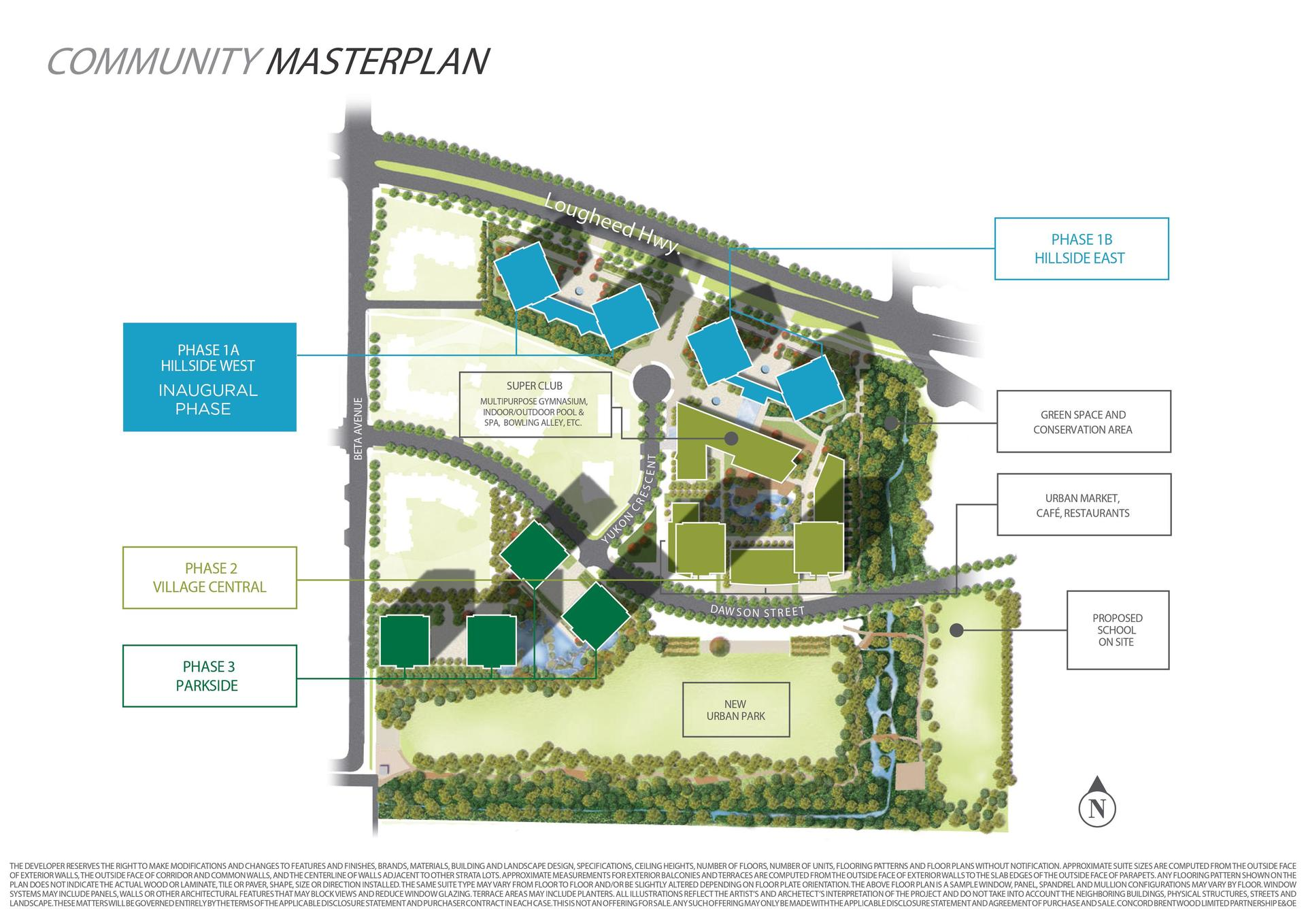 Concord Brentwood Site Plan at 4880 Lougheed Highway, Brentwood Park, Burnaby North