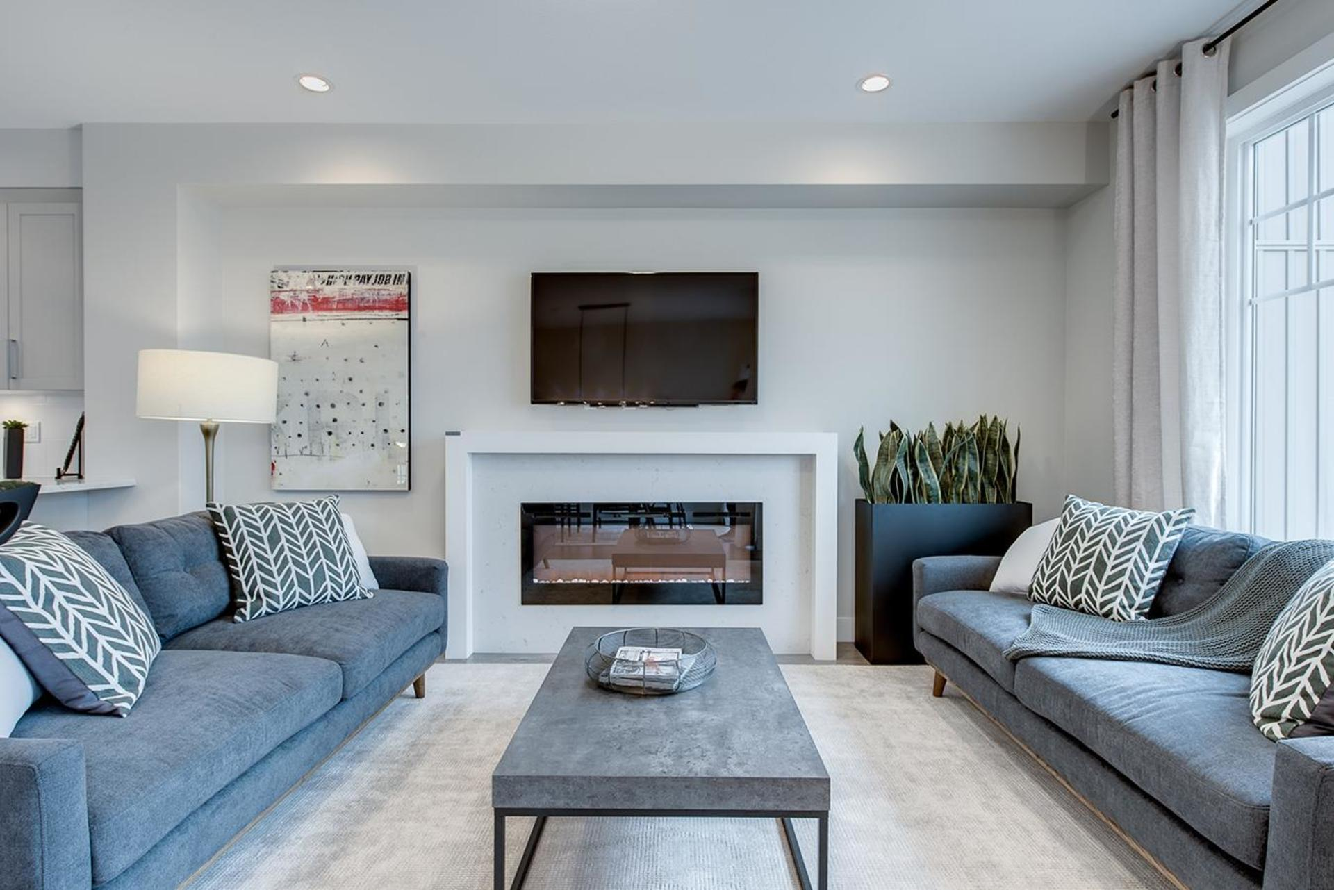 gabriola-park-living-room at Gabriola Park Townhomes (20498 82 Avenue, Willoughby Heights, Langley)