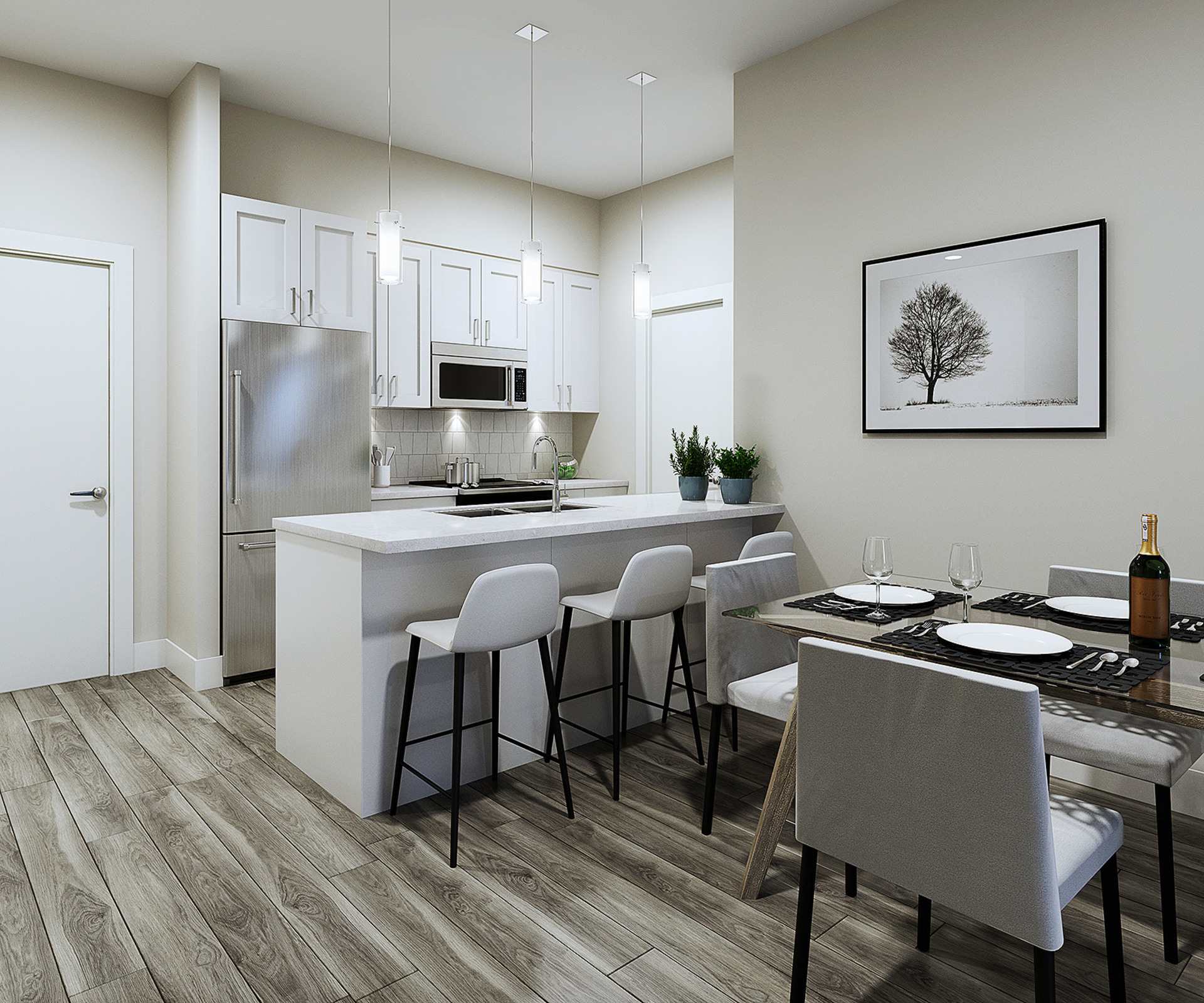 lattice-kitchen at Lattice² at Milner Heights (20826 72 Avenue, Willoughby Heights, Langley)