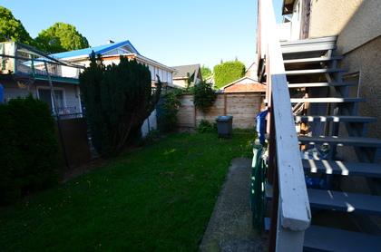 1245 E King Edward Ave Yard at 1245 E King Edward Avenue, Knight, Vancouver East