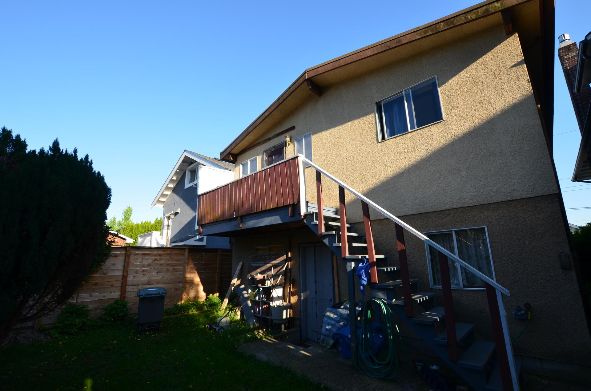 1245 E King Edward Ave Backyard at 1245 E King Edward Avenue, Knight, Vancouver East