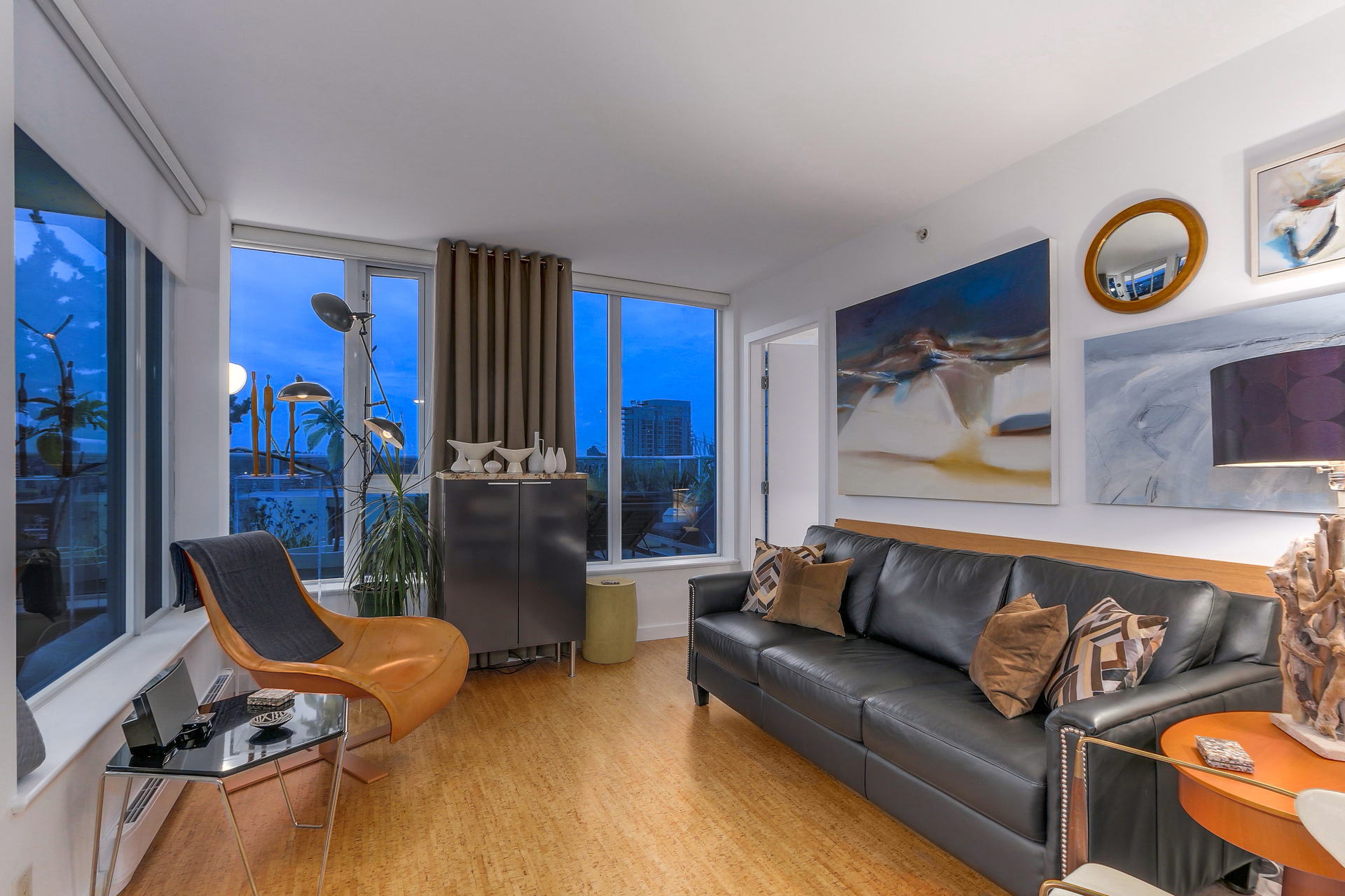 Living Room - 2 Bedroom Condo For Sale Downtown Vancouver BC at 2405 - 550 Taylor Street, Downtown VW, Vancouver West