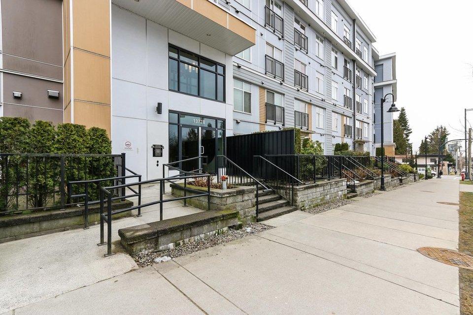 quattro-3-entrance at 209 - 13728 108 Avenue, Whalley, North Surrey