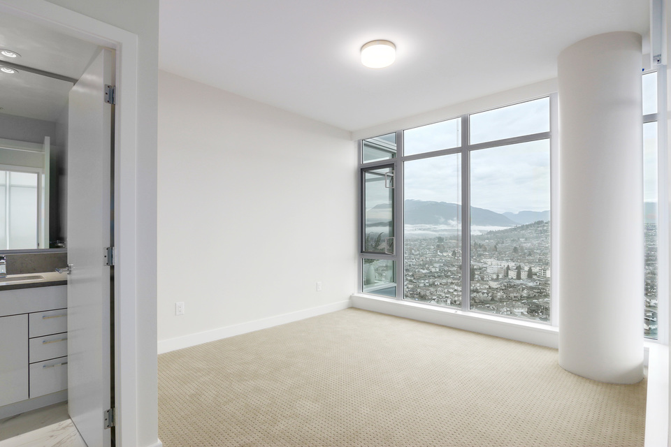 Master bedroom with great views at 3610 - 1788 Gilmore Avenue, Willingdon Heights, Burnaby North