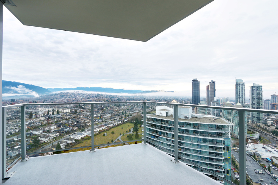 Large balcony at 3610 - 1788 Gilmore Avenue, Willingdon Heights, Burnaby North