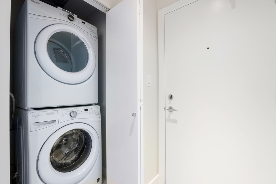 Full sized washer / dryer at 3610 - 1788 Gilmore Avenue, Willingdon Heights, Burnaby North