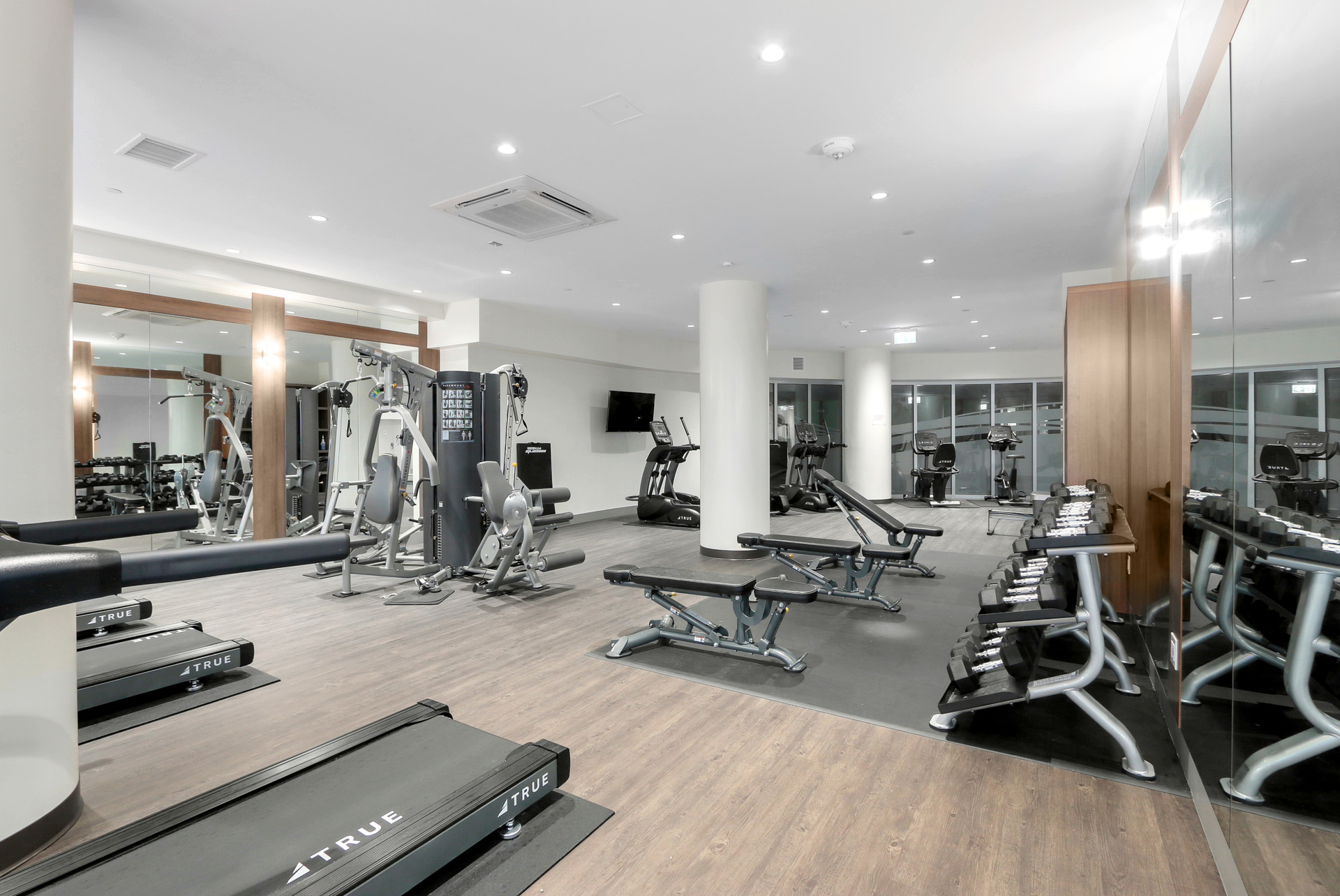 Large gym at 3610 - 1788 Gilmore Avenue, Willingdon Heights, Burnaby North