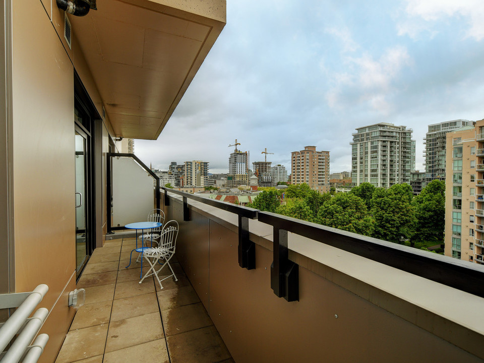 Balcony at 723 - 1029 View Street, Downtown and Harris Green, Victoria