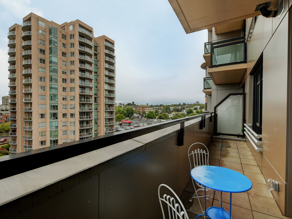Large balcony at 723 - 1029 View Street, Downtown and Harris Green, Victoria