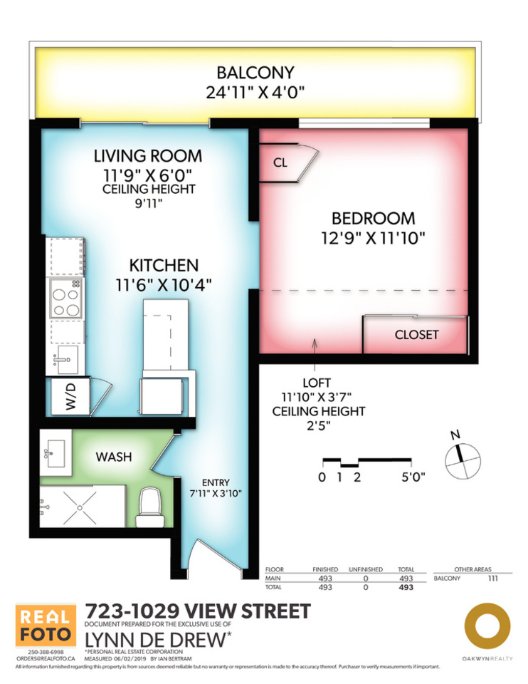 723 1029 View Street Floorplan at 723 - 1029 View Street, Downtown and Harris Green, Victoria