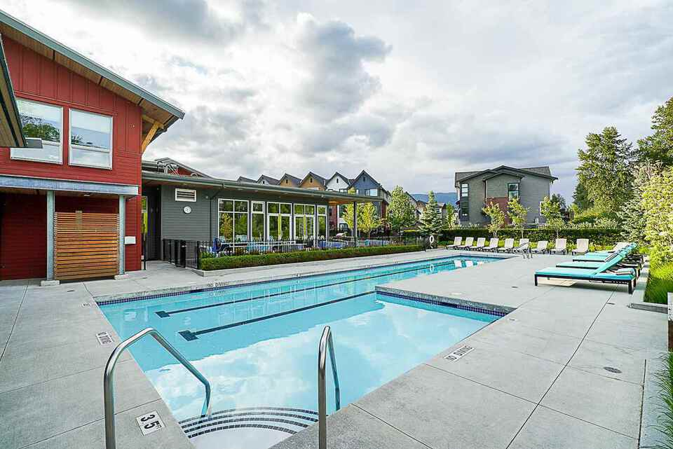 Freemont Clubhouse  Outdoor Pool at 403 - 2393 Ranger Lane, Riverwood, Port Coquitlam
