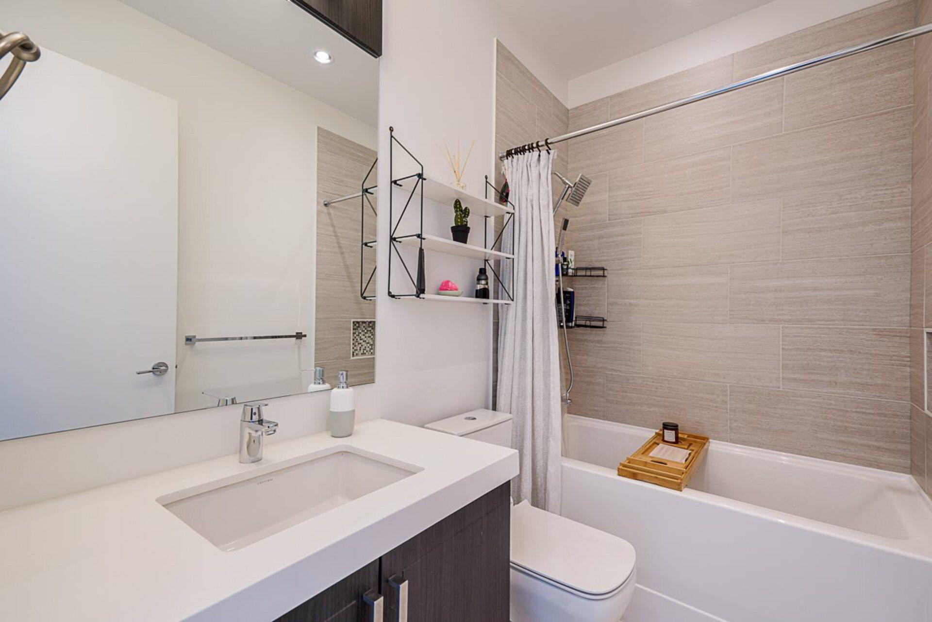 403 - 2393 Ranger Lane Bathroom  at 403 - 2393 Ranger Lane, Riverwood, Port Coquitlam