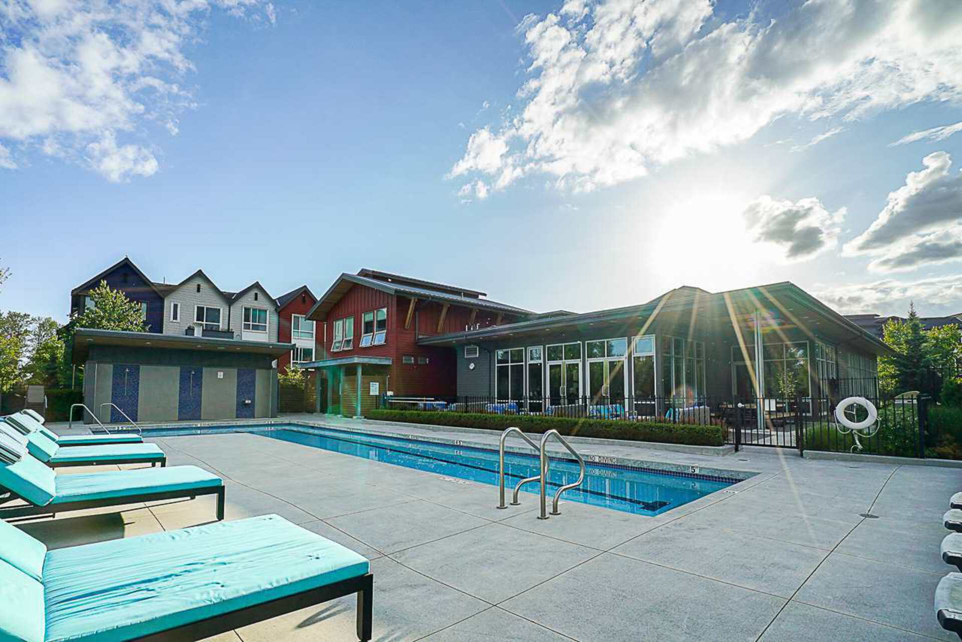 Freemont Clubhouse  Pool at 403 - 2393 Ranger Lane, Riverwood, Port Coquitlam