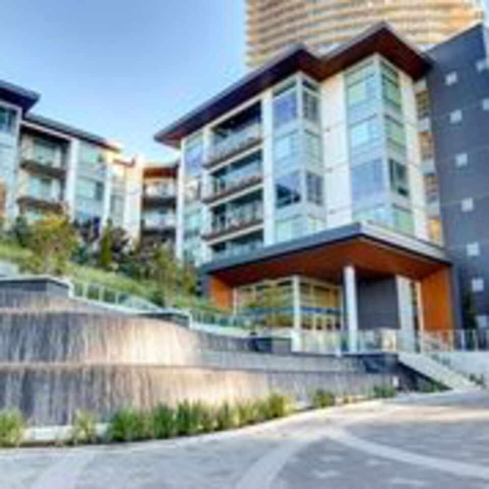 escala-terra-one-from-courtyard at 310 - 1768 Gilmore Avenue, Brentwood Park, Burnaby North