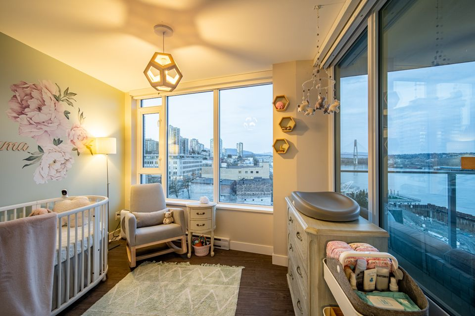 2nd bedroom  at 910 - 668 Columbia Street, Quay, New Westminster
