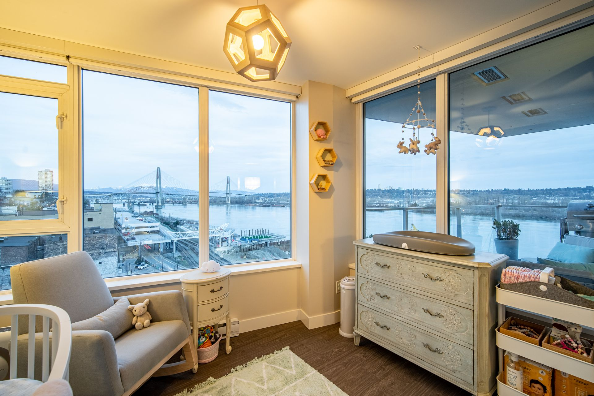 2nd bedroom with great views at 910 - 668 Columbia Street, Quay, New Westminster