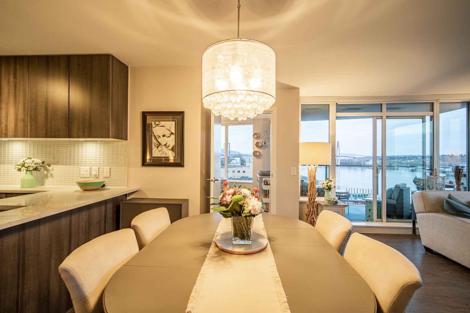 Dining Room  at 910 - 668 Columbia Street, Quay, New Westminster