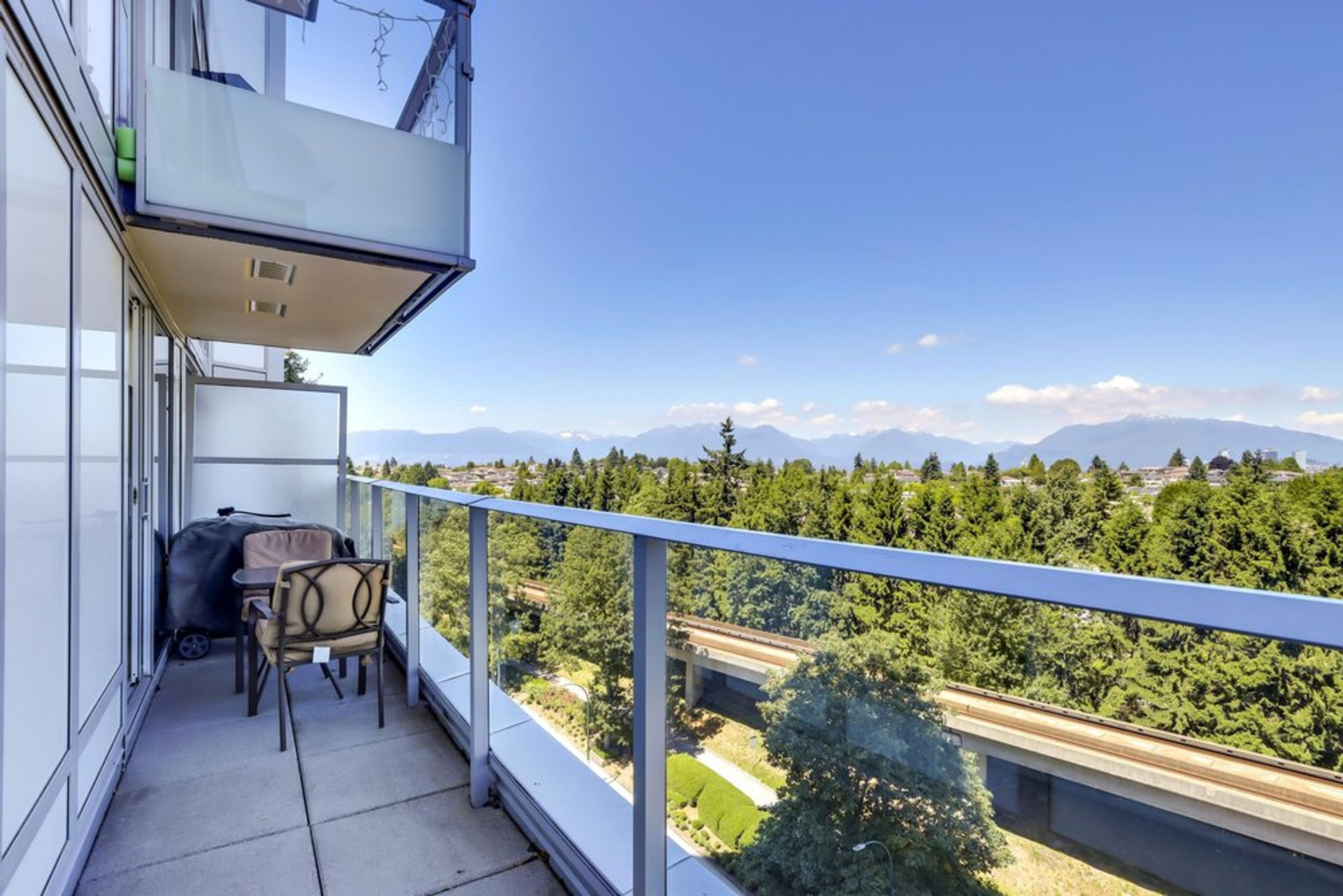 balcony towards NW at 1103 - 5470 Ormidale Street, Collingwood VE, Vancouver East