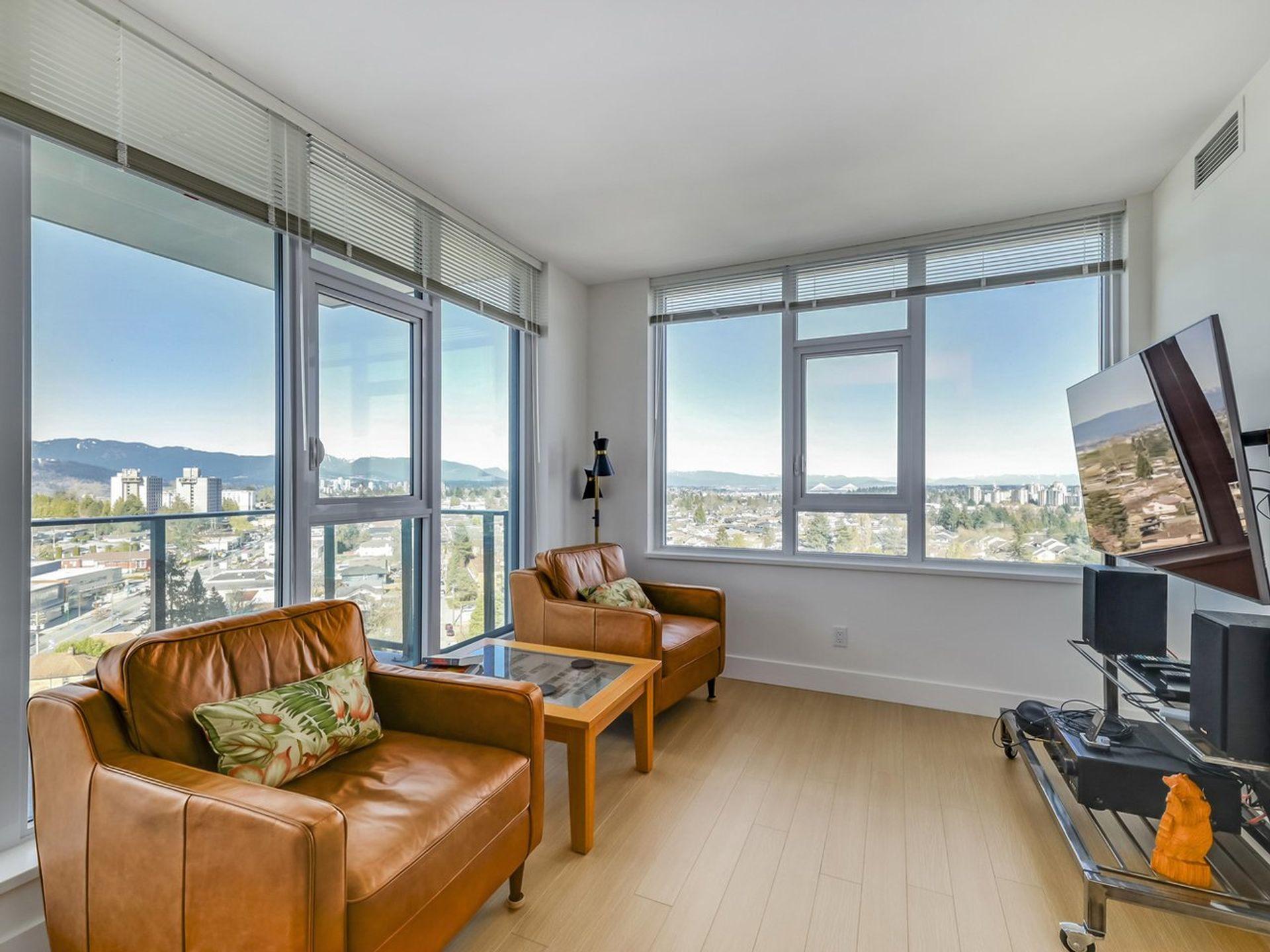 1605 - 7388 Kingsway Living Room  at 1605 - 7388 Kingsway, Edmonds BE, Burnaby East