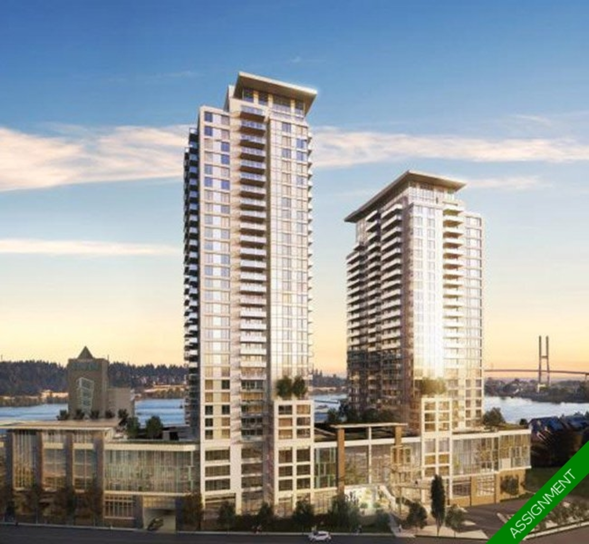 riversky-by-bosa-Tower 1 Condo Presale Assignment  at 2602 - 908 Quayside Drive, Quay, New Westminster