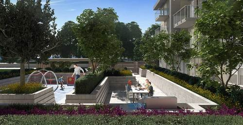 maverick-courtyard at 202 - 10838 Whalley Boulevard, Whalley, North Surrey