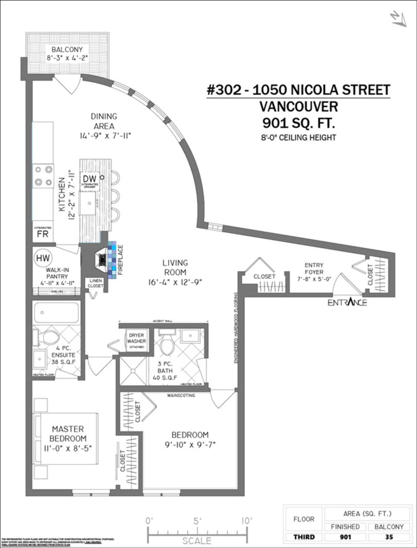 302 - 1050 Nicola Street, West End VW, Vancouver West