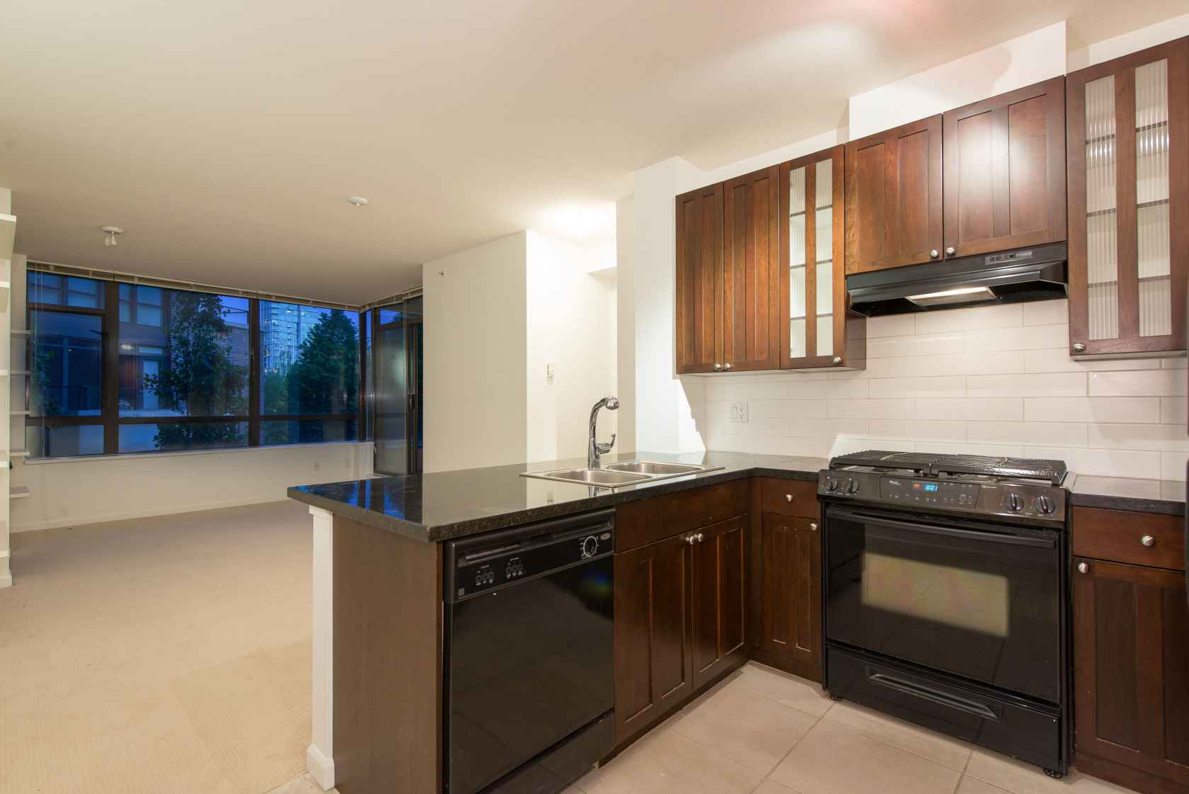 Kitchen at 203 - 170 West 1st Street, Lower Lonsdale, North Vancouver