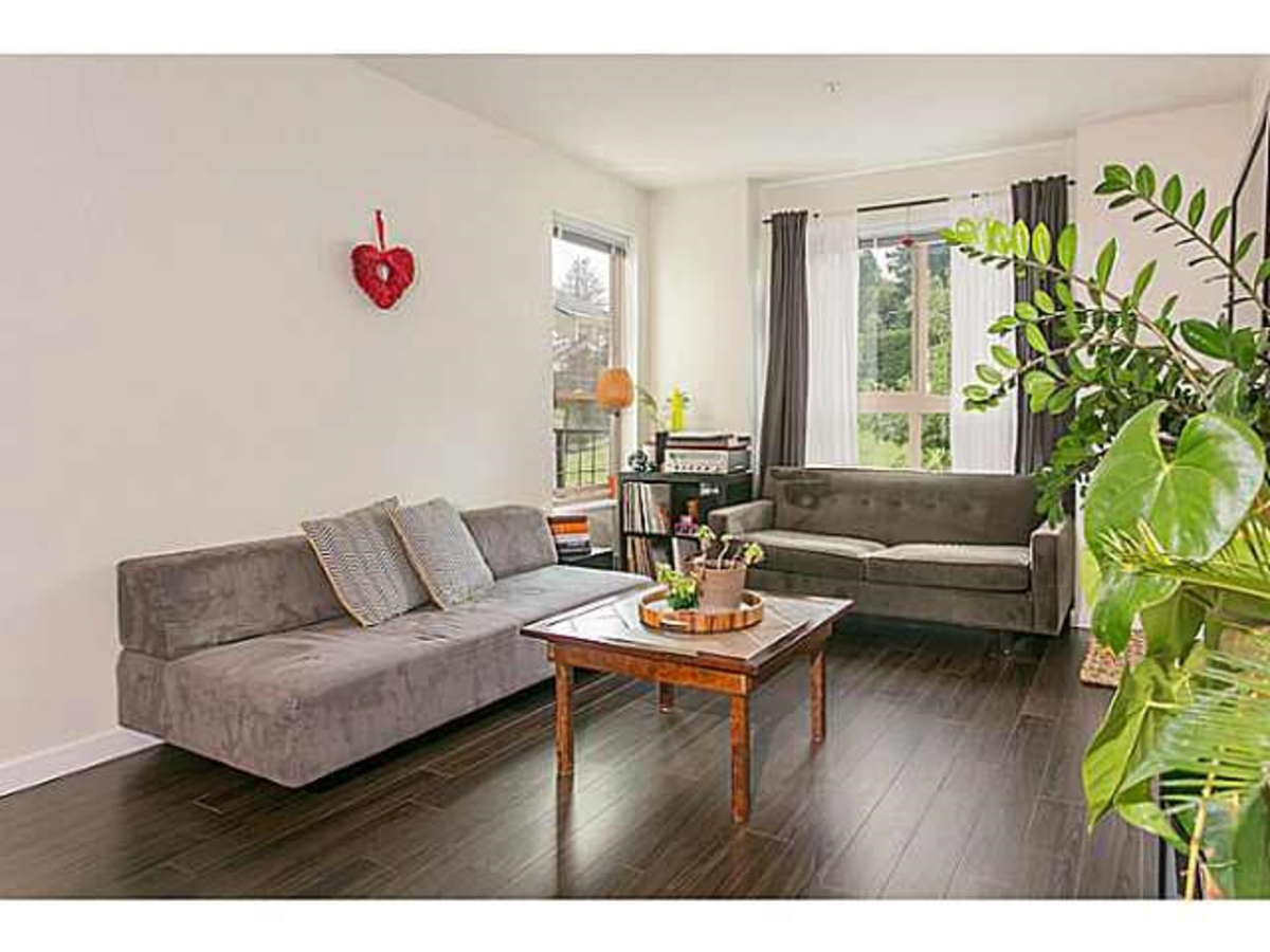 Living Room at 202 - 255 Ross Drive, Fraserview NW, New Westminster