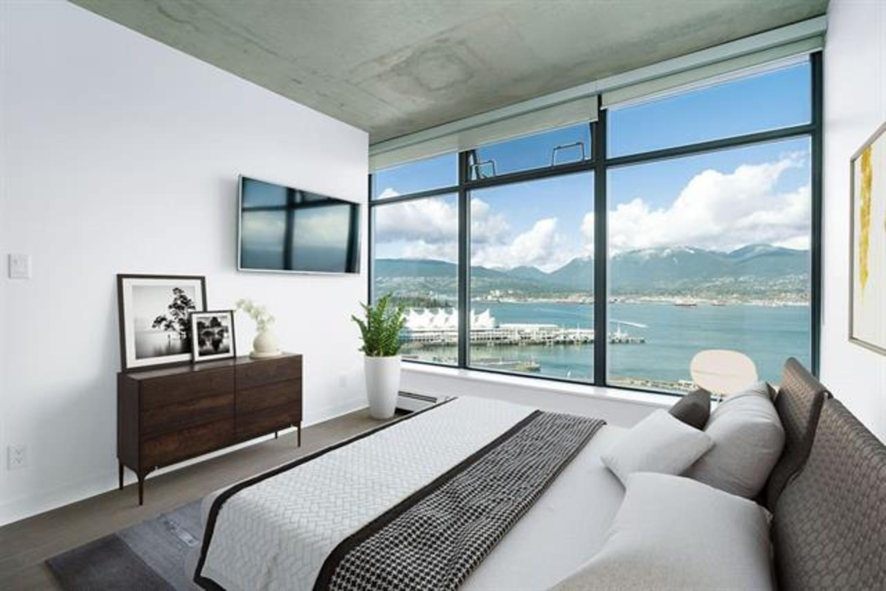 Master Bedroom - Virtually Staged at 2902 - 128 W Cordova, Downtown VW, Vancouver West