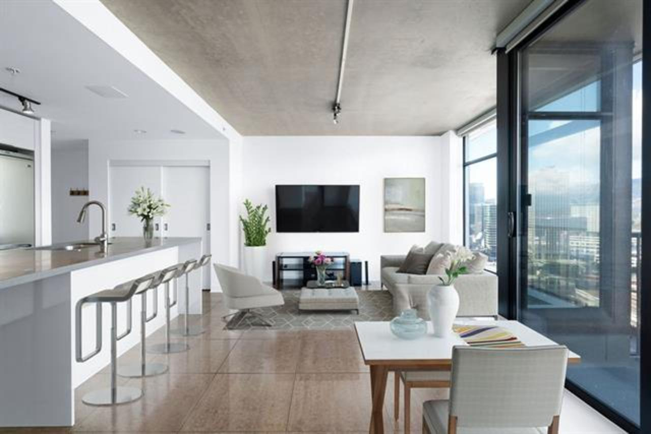 Living Room - Virtually Staged at 2902 - 128 W Cordova, Downtown VW, Vancouver West