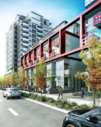 block_100_townhomes1 at 111 E 1st Avenue, Olympic Village, Vancouver West