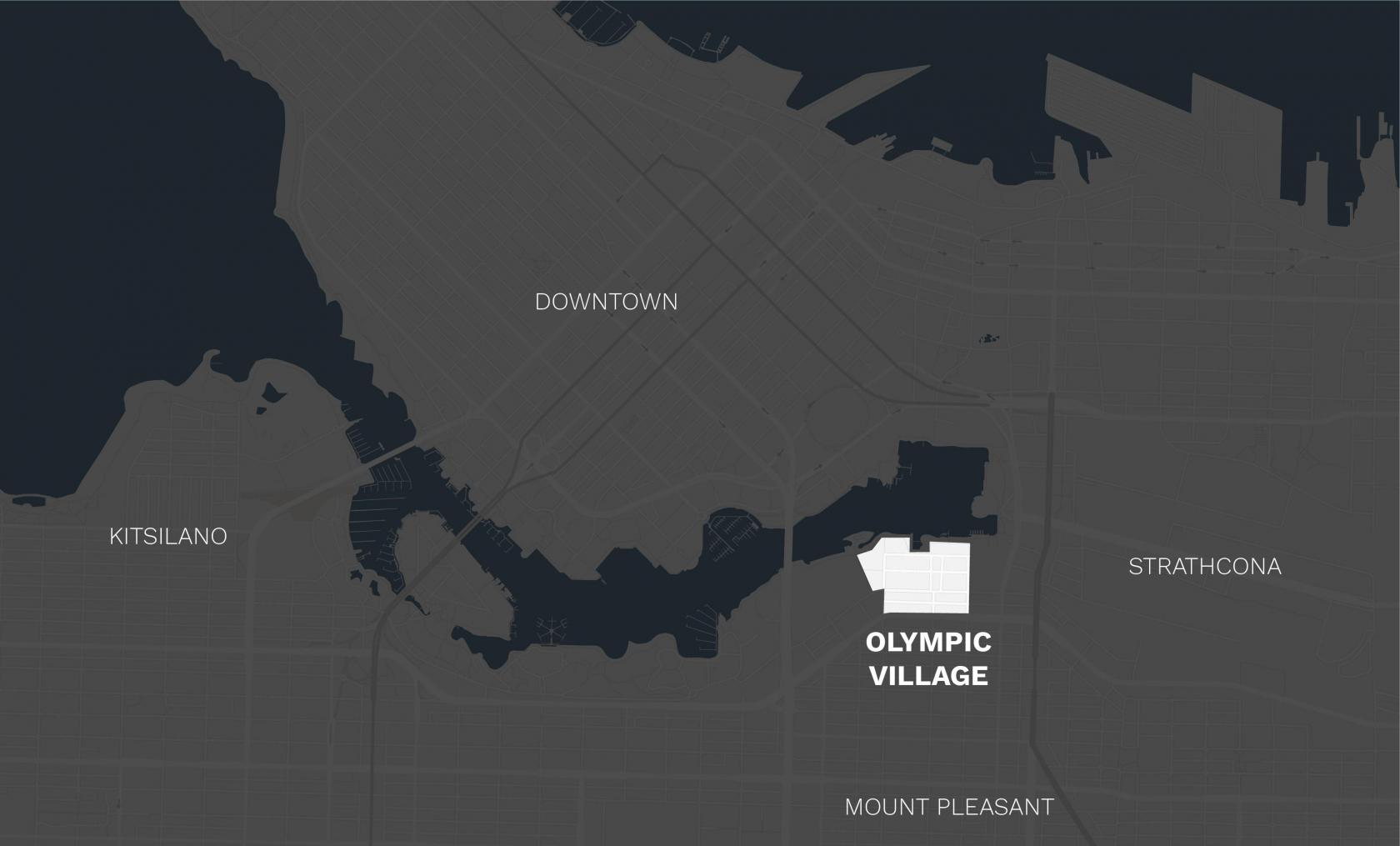 Olympic Village area map