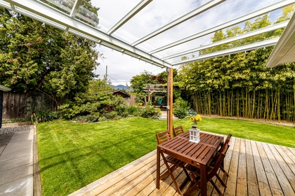Patio at 1378 Oakwood Crescent, Norgate, North Vancouver