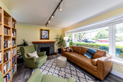 Living Room at 1378 Oakwood Crescent, Norgate, North Vancouver
