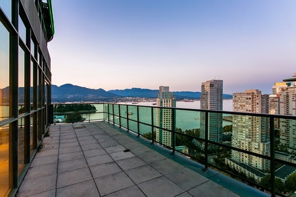 Balcony at 2600 - 588 Broughton Street, Coal Harbour, Vancouver West