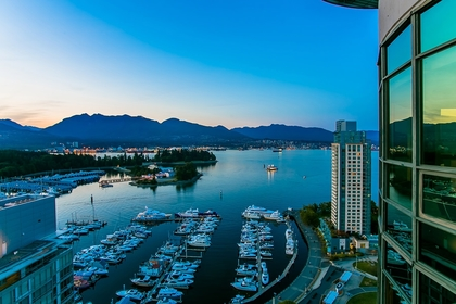 Water views at 2600 - 588 Broughton Street, Coal Harbour, Vancouver West