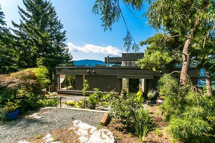 Back side at 6995 Hycroft, Whytecliff, West Vancouver