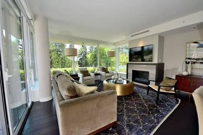 Living Room at 602 - 908 Keith Road, Park Royal, West Vancouver