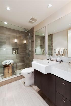 Master Bathroom at 602 - 908 Keith Road, Park Royal, West Vancouver