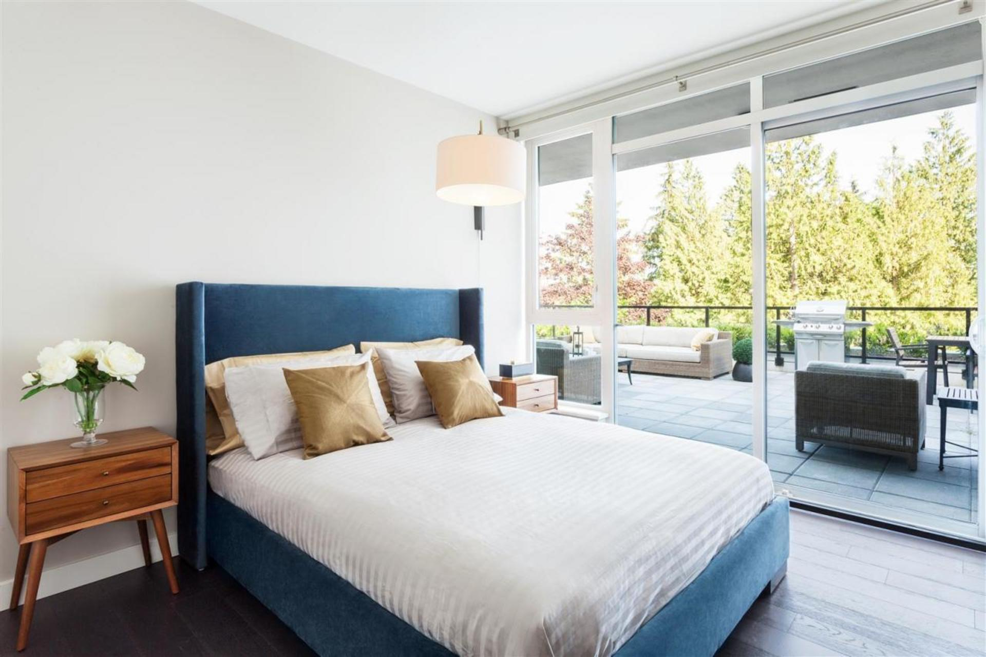 Master Bedroom at 602 - 908 Keith Road, Park Royal, West Vancouver