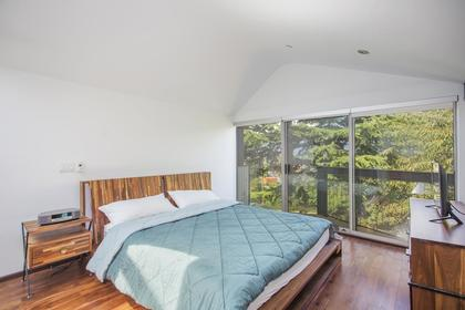 Master Bedroom with balcony view at 1328 East 6th , Grandview VE, Vancouver East