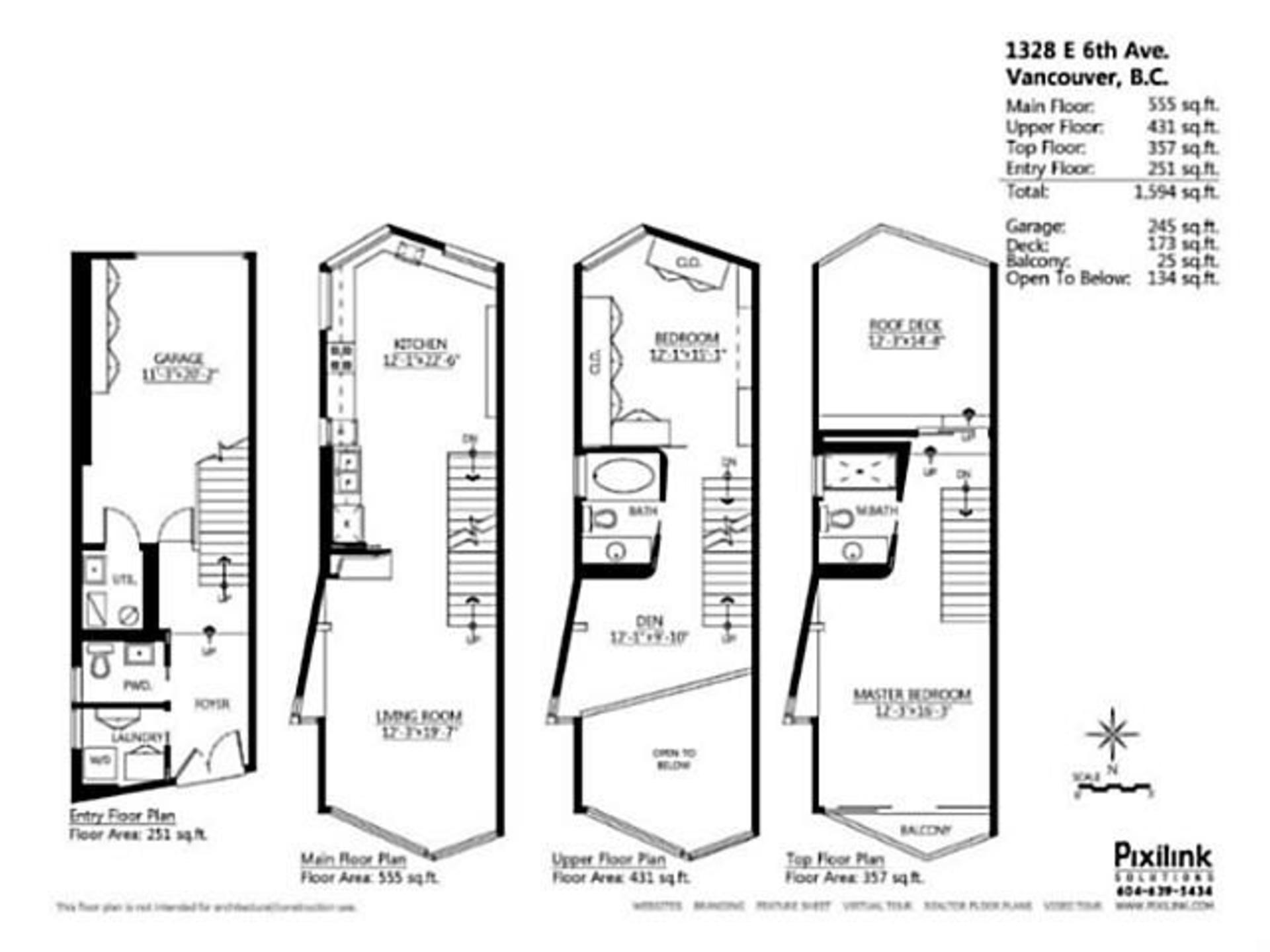 Floor Plan at 1328 East 6th , Grandview VE, Vancouver East
