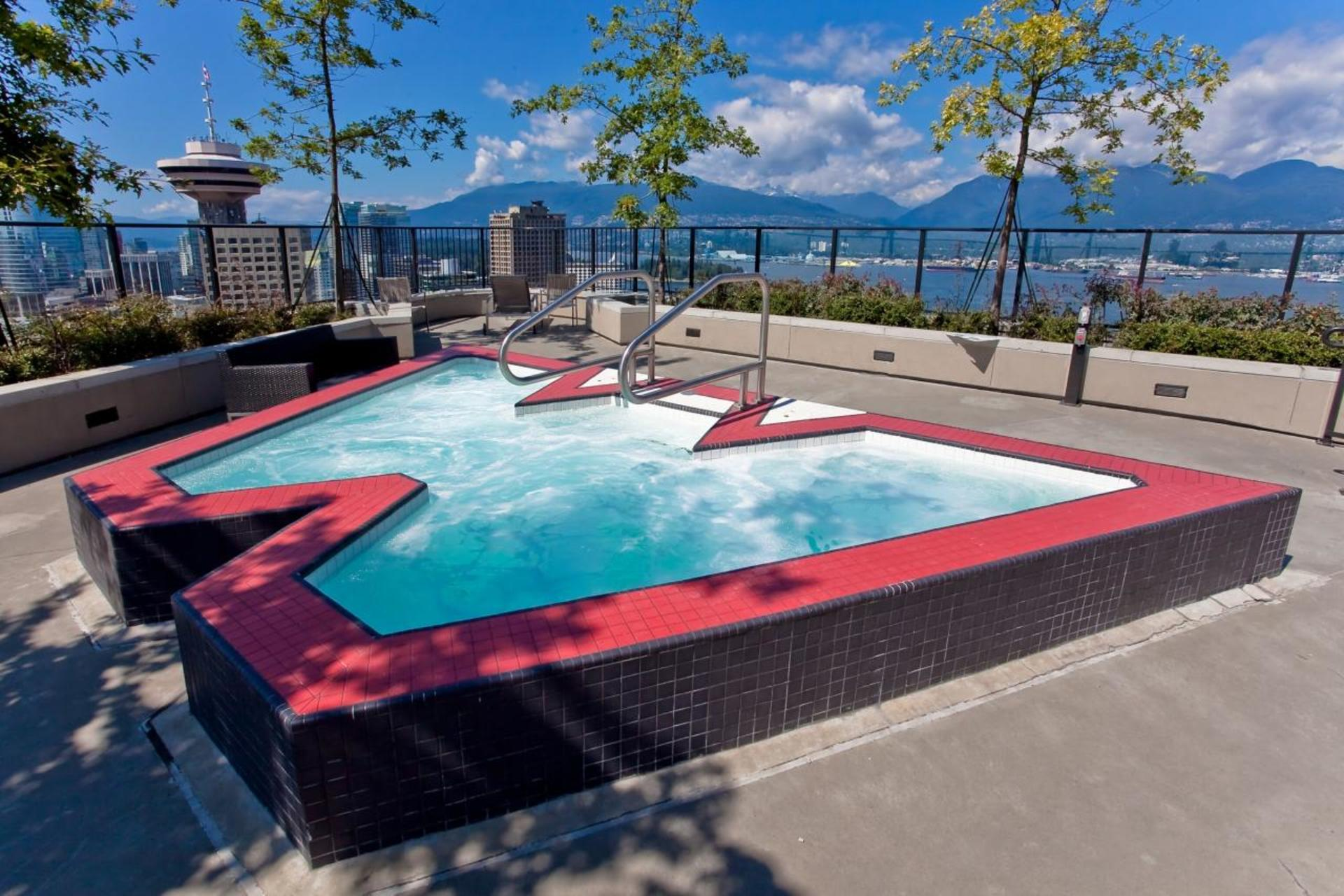 Outdoor Pool at 3806 - 128 Cordova, Downtown VW, Vancouver West