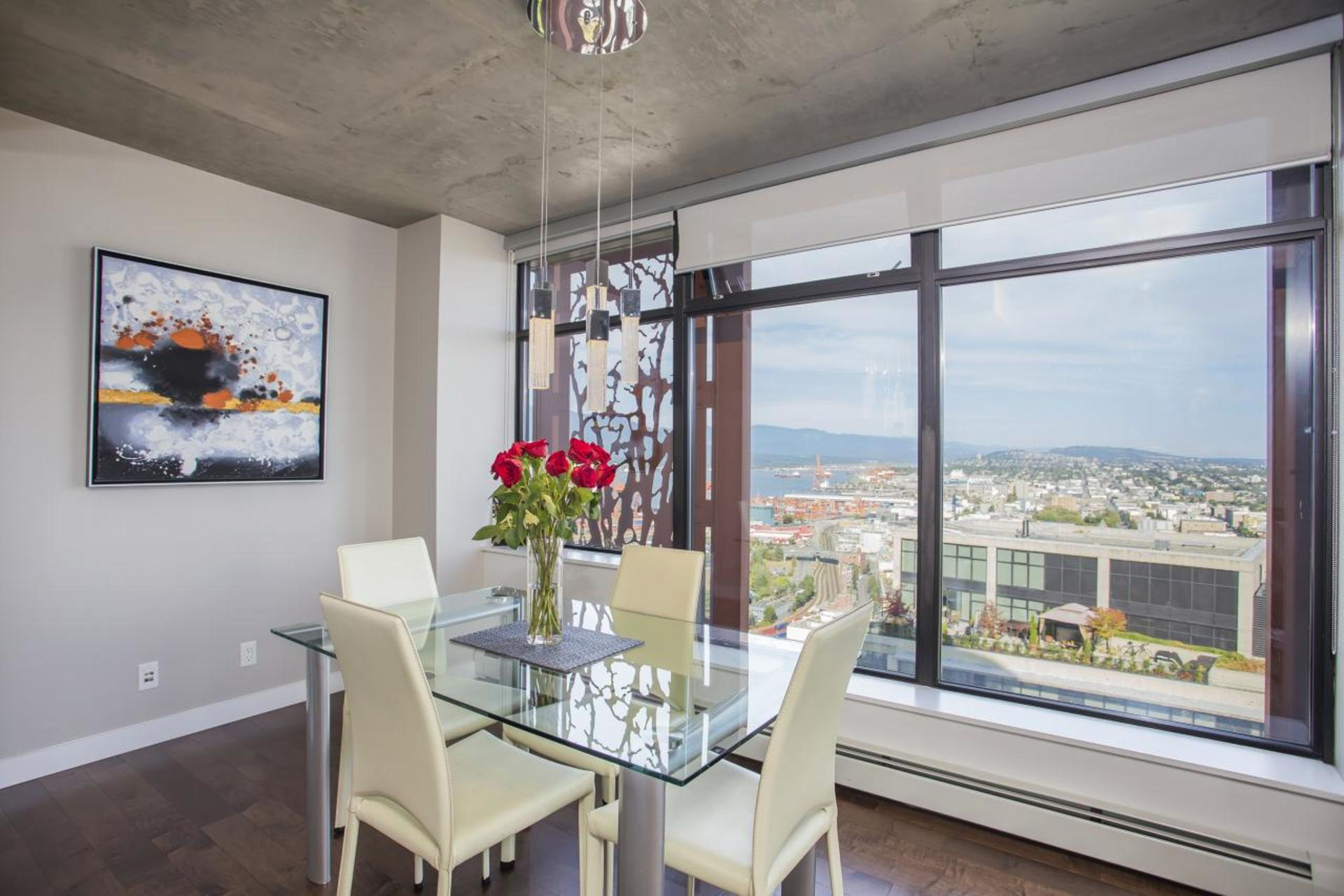Dining Room at 3806 - 128 Cordova, Downtown VW, Vancouver West