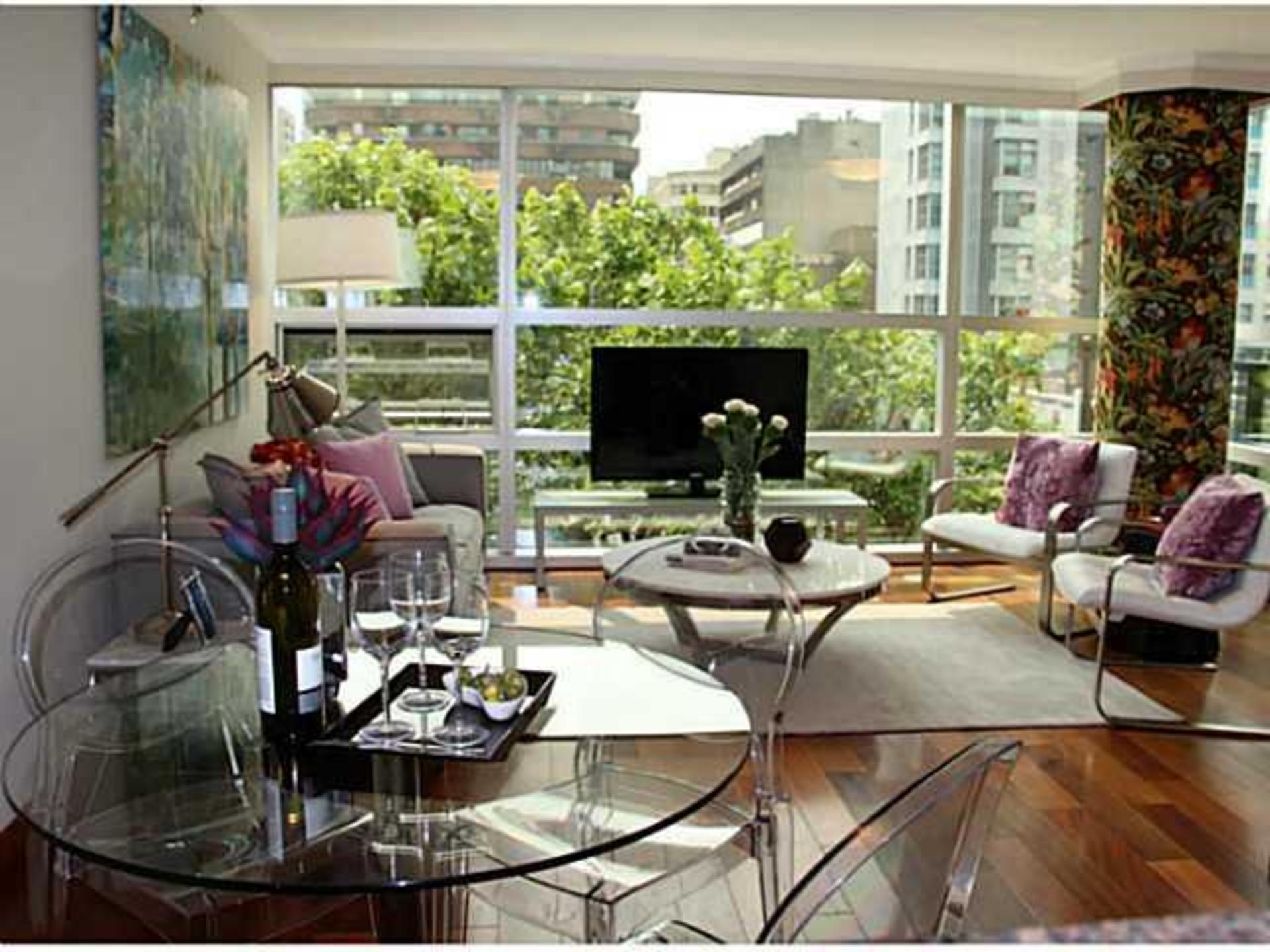 Living Room at 503 - 1050 Burrard, Downtown VW, Vancouver West