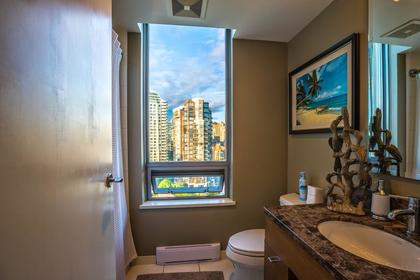 Bathroom at #1801 - 1005 Beach Avenue, Downtown VW, Vancouver West