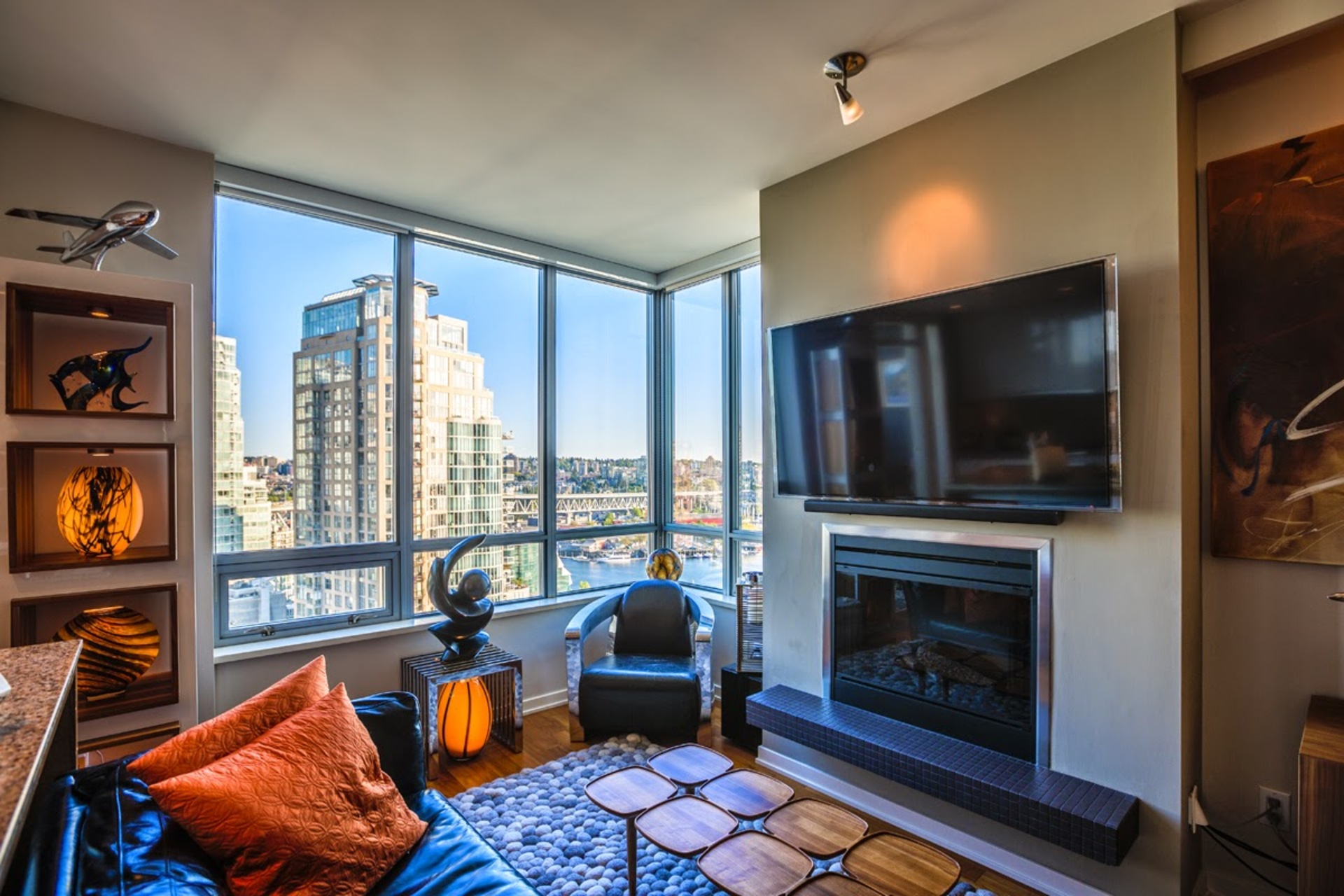 Living Room at #1801 - 1005 Beach Avenue, Downtown VW, Vancouver West